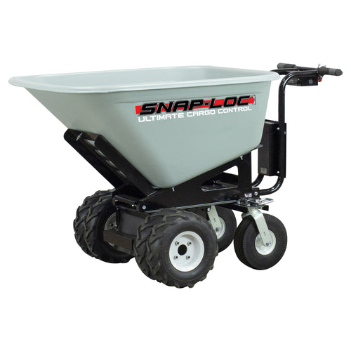 750 lb Capacity 10 Cubic Foot All-Terrain Power Cart Electric Wheelbarrow