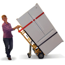 Load image into Gallery viewer, 500 lb Capacity 4 Wheel Appliance E-Track Hand Truck Cart with Cinch