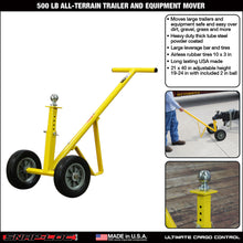 Load image into Gallery viewer, 500 lb ALL-TERRAIN TRAILER and EQUIPMENT MOVER