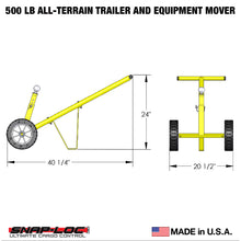Load image into Gallery viewer, 500 lb Capacity All-Terrain Trailer and Equipment Mover