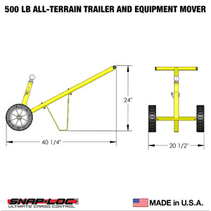 500 lb Capacity All-Terrain Trailer and Equipment Mover