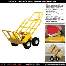 Load image into Gallery viewer, 750 lb ALL-TERRAIN 4 WHEEL E-TRACK HAND TRUCK CART