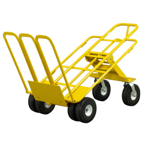 1,000 lb Capacity All-Terrain 6 Wheel E-Track Hand Truck Cart