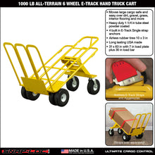 Load image into Gallery viewer, 1,000 lb Capacity All-Terrain 6 Wheel E-Track Hand Truck Cart