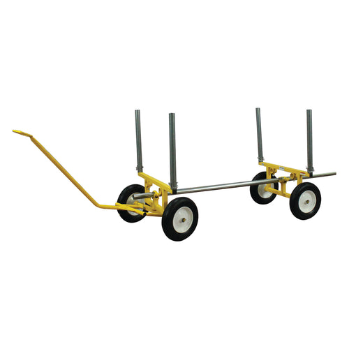 2,000 lb Capacity All-Terrain 4 Wheel Lumber and Pipe Cart