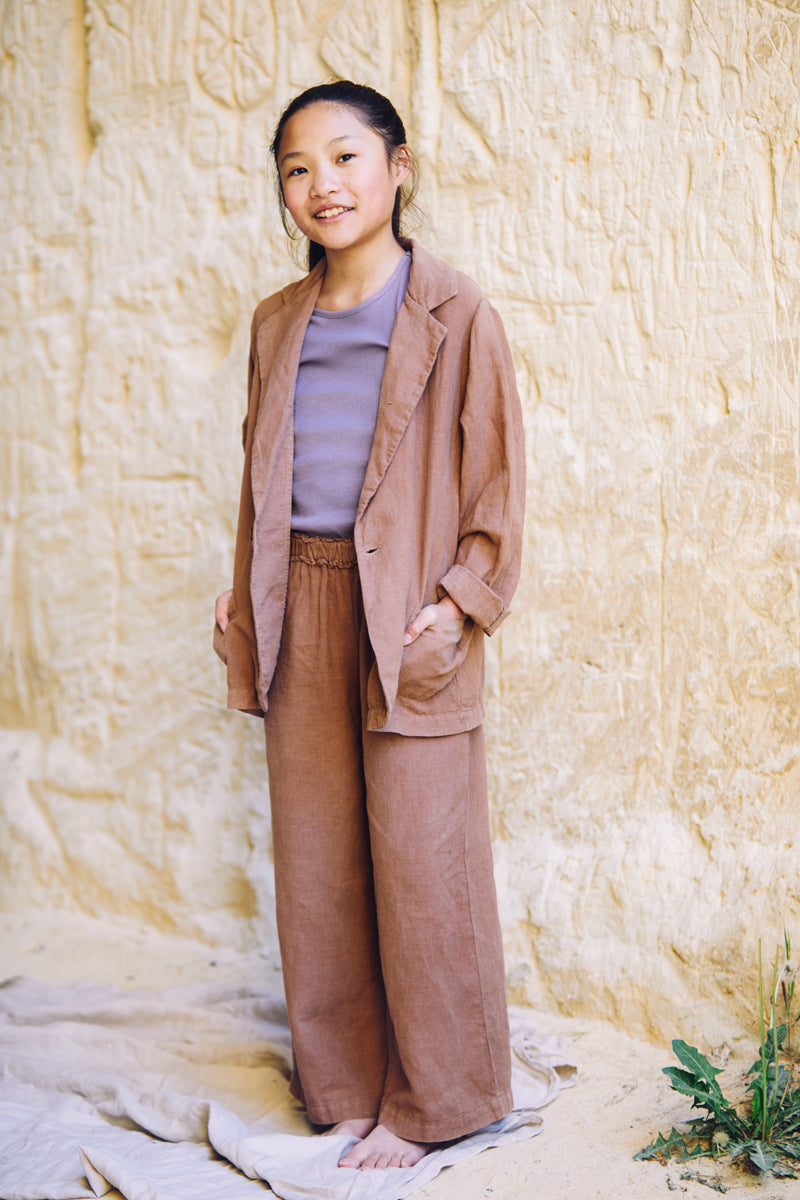 SS21 Linen Wide Pants Warm Earth