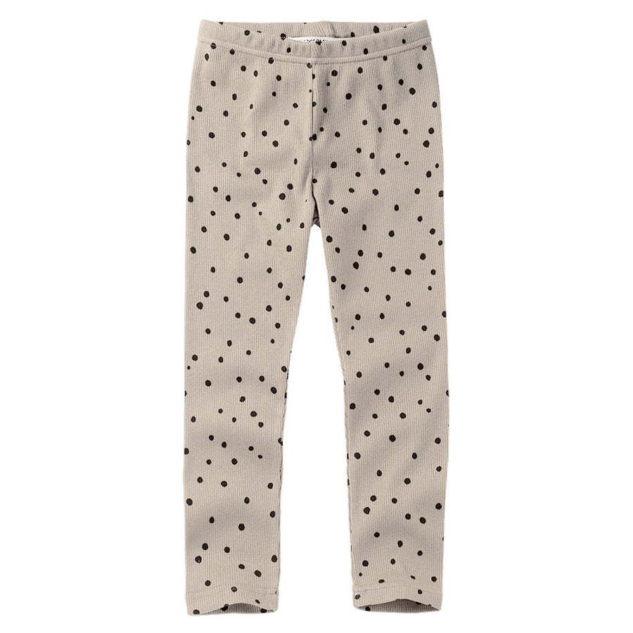 New Basic  Rib Leggings Dot Black&White