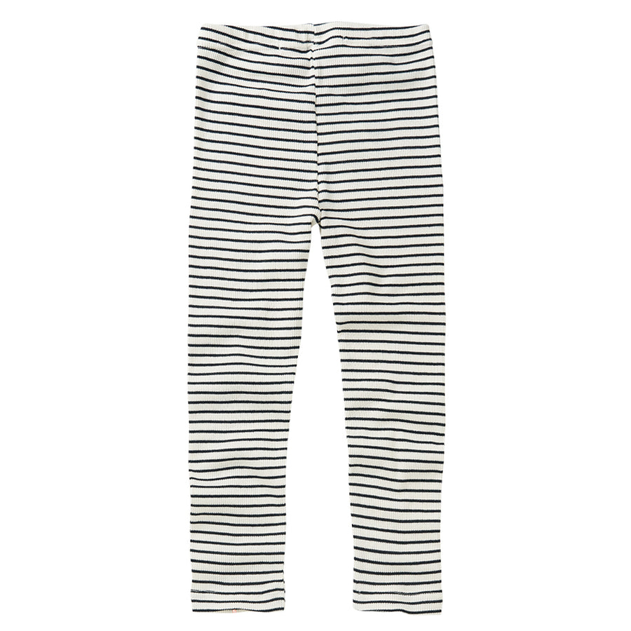 Basic Rib Leggings BW stripes