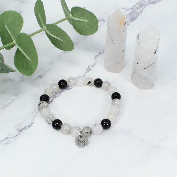 Rutilated Quartz Crystal Bracelet