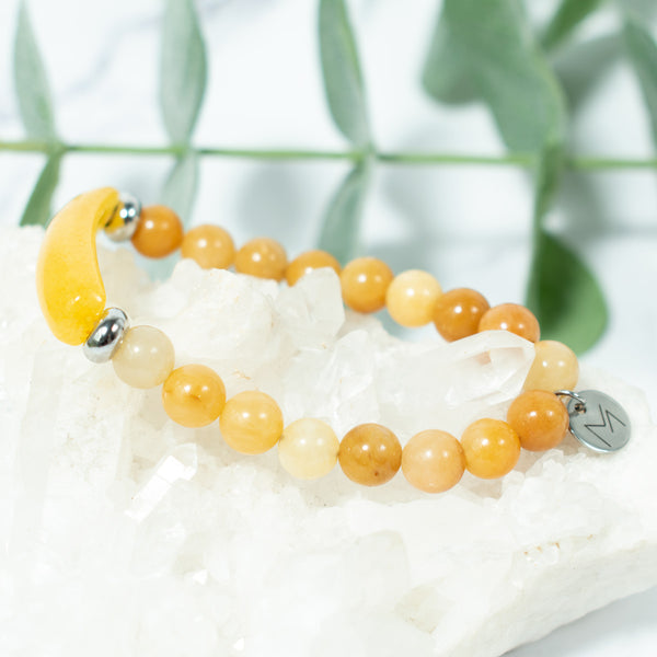 Yellow Jasper Crystal Bracelet