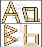 Alphabet Popsicle Stick Activity Cards