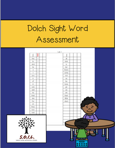 Dolch Sight Words Assessment