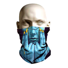Load image into Gallery viewer, Ski Mask face shield-BlueFace Sexy Alien - FashionGorilla