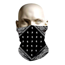 Load image into Gallery viewer, Face Mask - Black Bandanna design