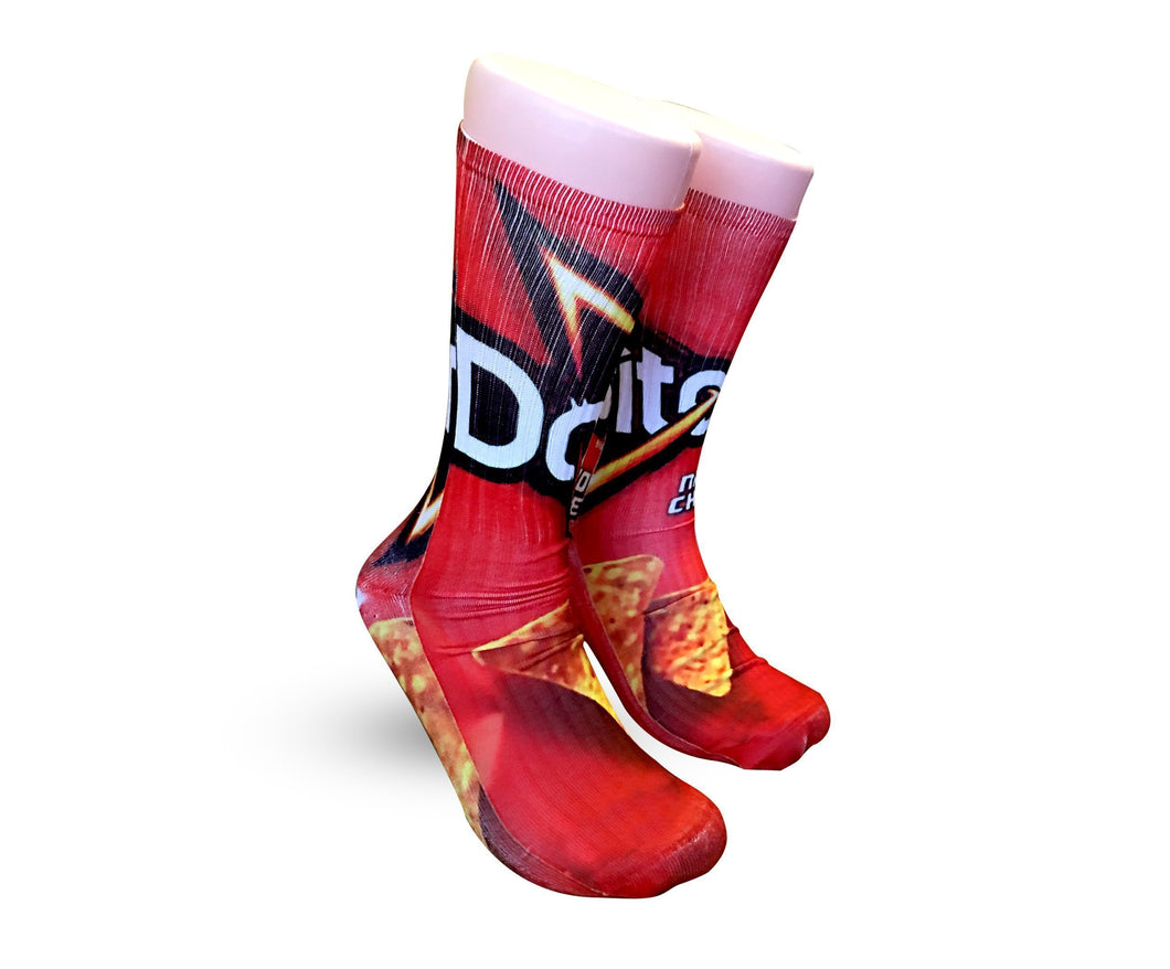 Doritos Nacho Cheese Elite sublimated socks - DopeSoxOfficial