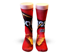 Load image into Gallery viewer, Doritos Nacho Cheese Elite sublimated socks - DopeSoxOfficial