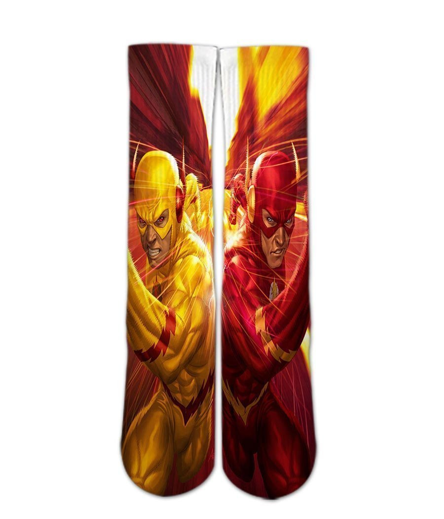 Flash printed graphic Crew socks - DopeSoxOfficial