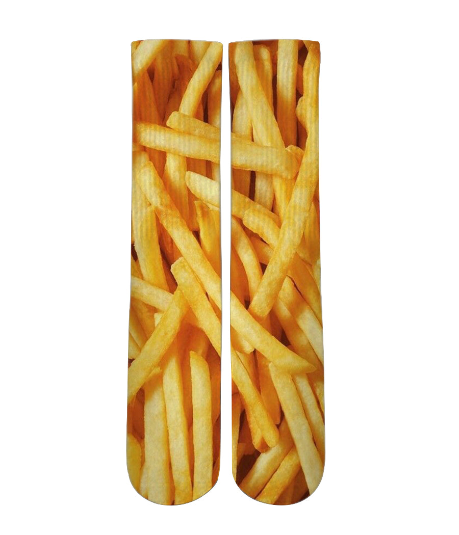 Graphic Socks - French Fry pattern print crew socks