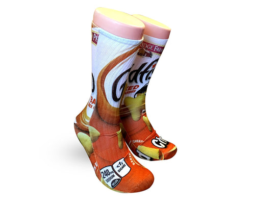 Custom Elite Socks-GoldFish Crackers - DopeSoxOfficial
