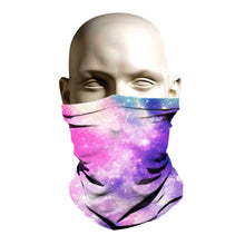 Load image into Gallery viewer, Ski Mask face shield - Rainbow Galaxy design