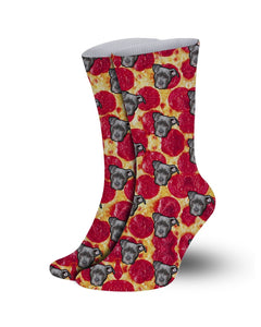 Customized Pet socks- Print your pet pizza pattern socks