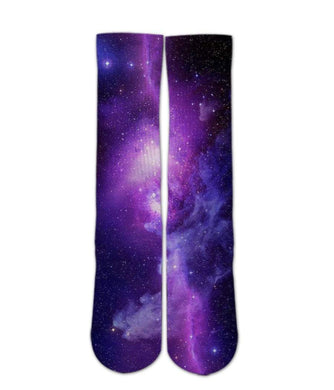 Cool Socks-Purple Galaxy sock design - DopeSoxOfficial