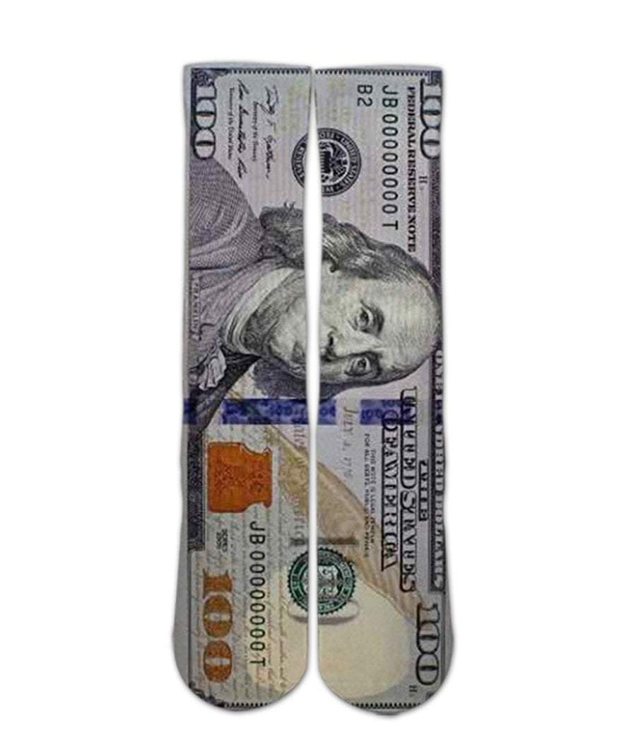 Benjamin Franklin Money Printed Socks - DopeSoxOfficial