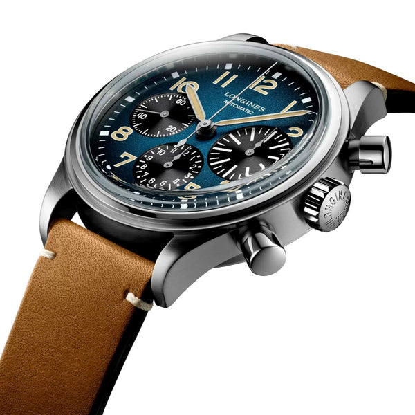Longines watch The Longines Avigation BigEye 41mm Petroleum Automatic Chronograph Titanium L2.816.1.93.2