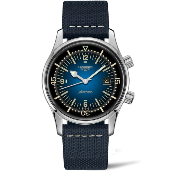 Longines orologio Heritage Legend Diver Blu Watch 42mm blu automatico acciaio L3.774.4.90.2
