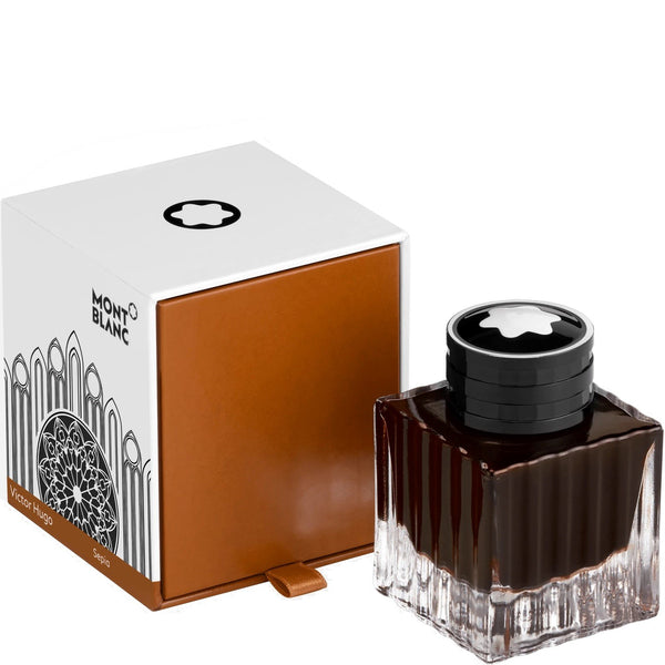 Montblanc boccetta d'inchiostro 50ml Homage to Victor Hugo marrone 129532