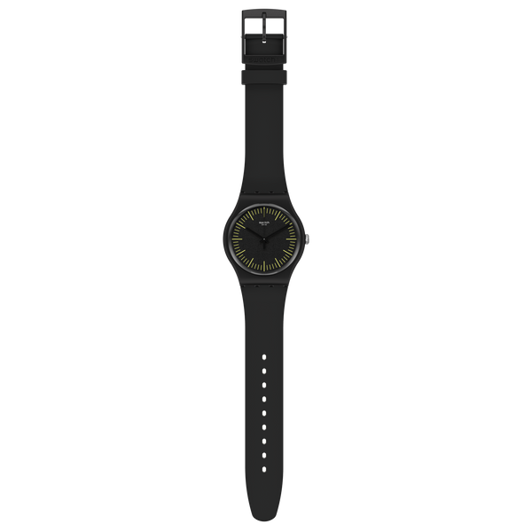 Swatch orologio BLACKNYELLOW 41mm Originals New Gent SUOB184 - Gioielleria Capodagli