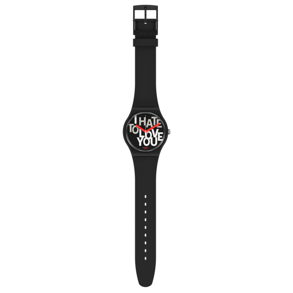 Swatch orologio HATE 2 LOVE 41mm Originals New Gent SUOB185 - Gioielleria Capodagli