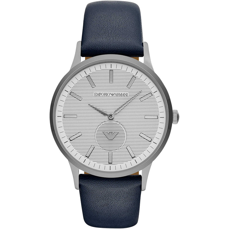 Emporium Armani watch Renato 44mm grey steel barrel quartz AR11119