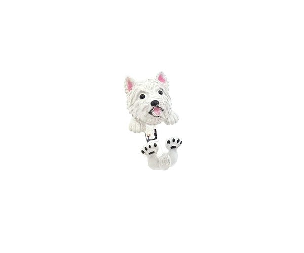 Idandi anello Cane West Highland White Terrier argento 925 e smalto WEST HIGHLAND WHITE - Gioielleria Capodagli