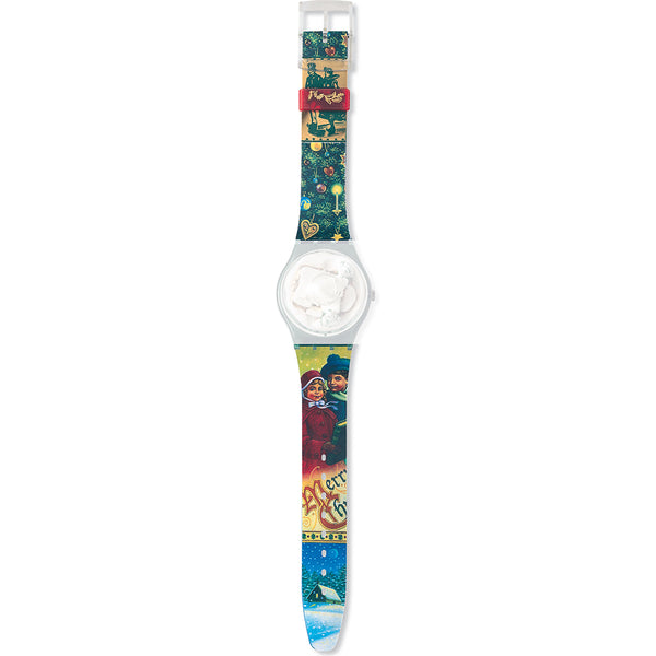 Swatch cinturino orologio MAGIC SPELL Christmas-1995 Originals Gent AGZ148
