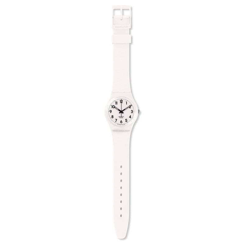 Swatch orologio JUST WHITE SOFT Originals Gent 34mm New Core GW151O