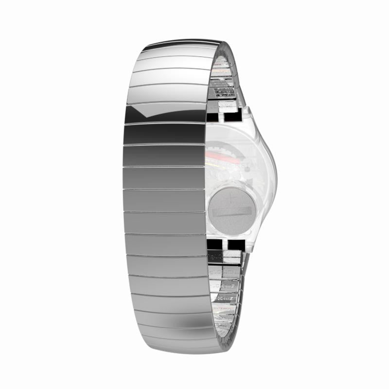 Swatch orologio SILVERALL Gent 34mm Originals cinturino large GM416A