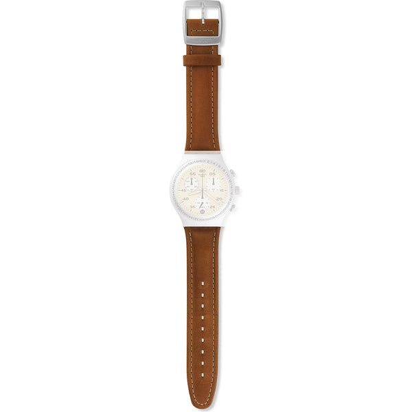 Swatch cinturino orologio BRUSHED EARTH Irony Chrono AYCS4053