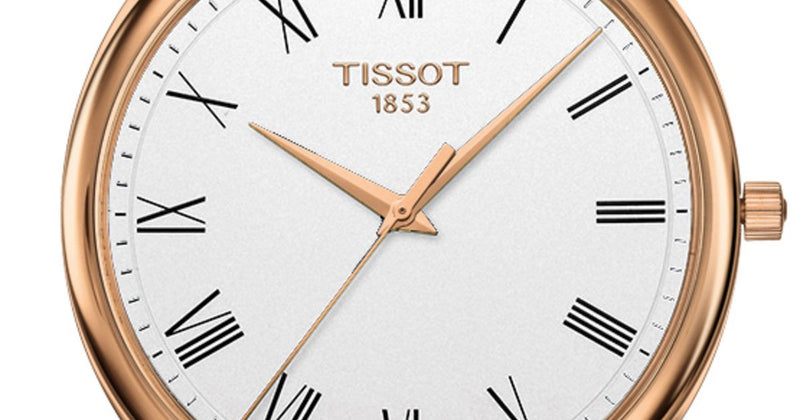 Tissot watch Excellence 40mm silver quartz rose gold 18kt T926.410.76.013.00