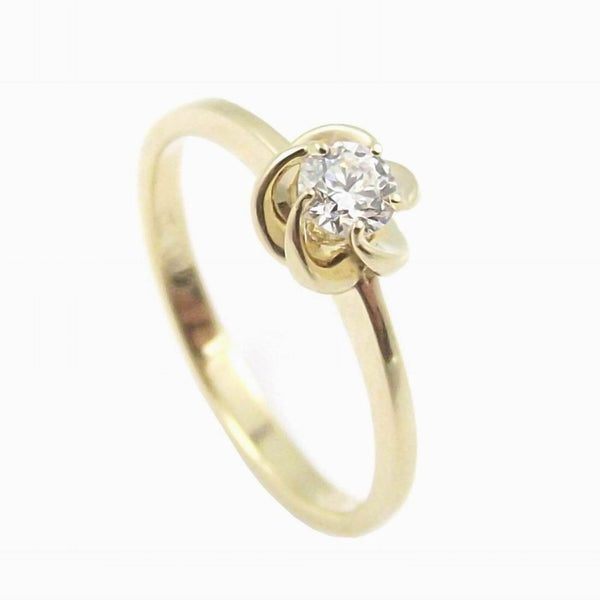 WORLD DIAMOND GROUP ANELLO SOLITARIO ORO GIALLO 18KT BRILLANTE 0,22CT ASL014WDI-022-G - Gioielleria Capodagli