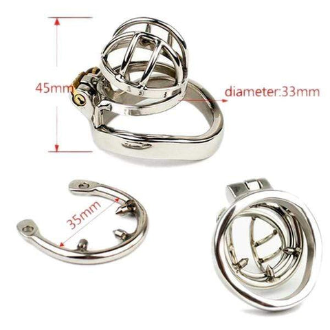 MS040 Male Chastity Device 1.77 inches and 2.36 inches long
