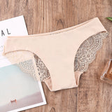 Lace underwear sexy seamless cotton bottom milk silk triangle underwear for women