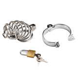 MS080 Caged Ring Metal Chastity Device