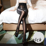 Sexy Oil Shiny Crotch Stockings Super Elastic Pantyhose