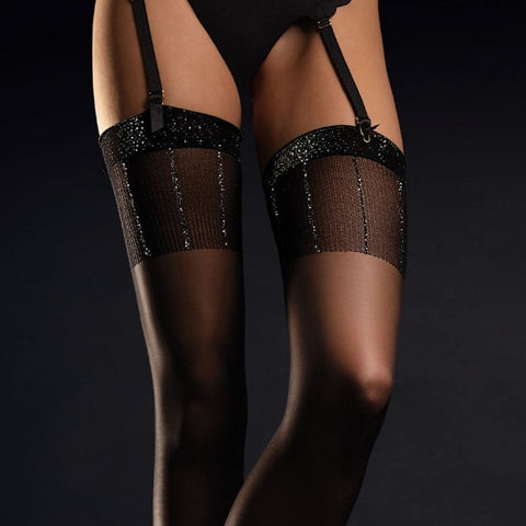 Filigree sparkle stockings