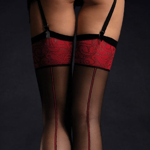 Contrast seam stockings