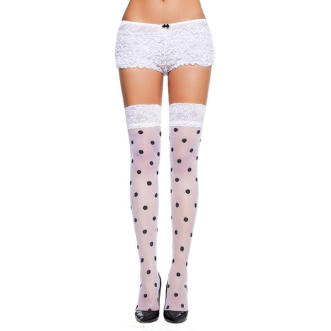 Dot Sheer Thigh High Stockings