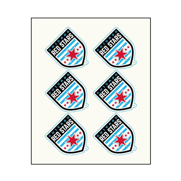 Chicago Red Stars Face Decals
