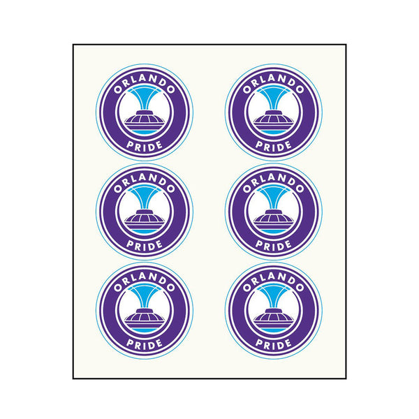 Orlando Pride Face Decals
