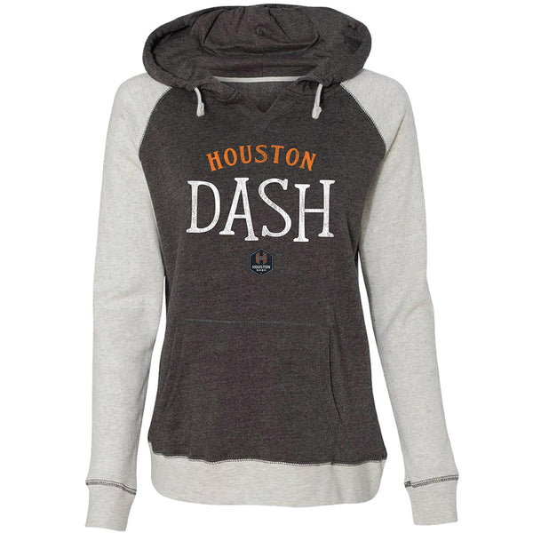 Houston Dash Ladies Raglan Pullover Hood
